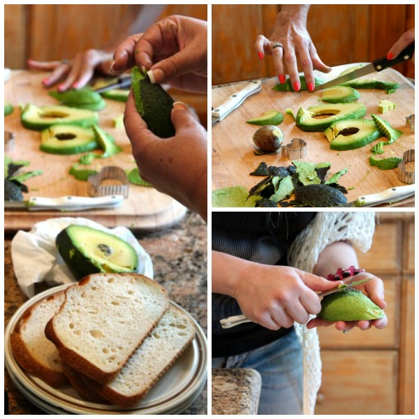 peeling and slicing avocados