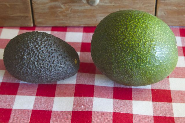 Hass and Reed avocados