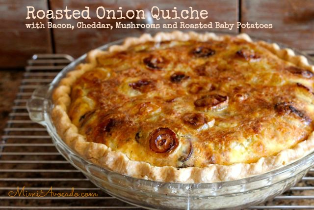 Quiche with Roasted Cipolline Onions
