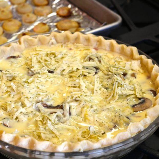 cipollini onions on quiche