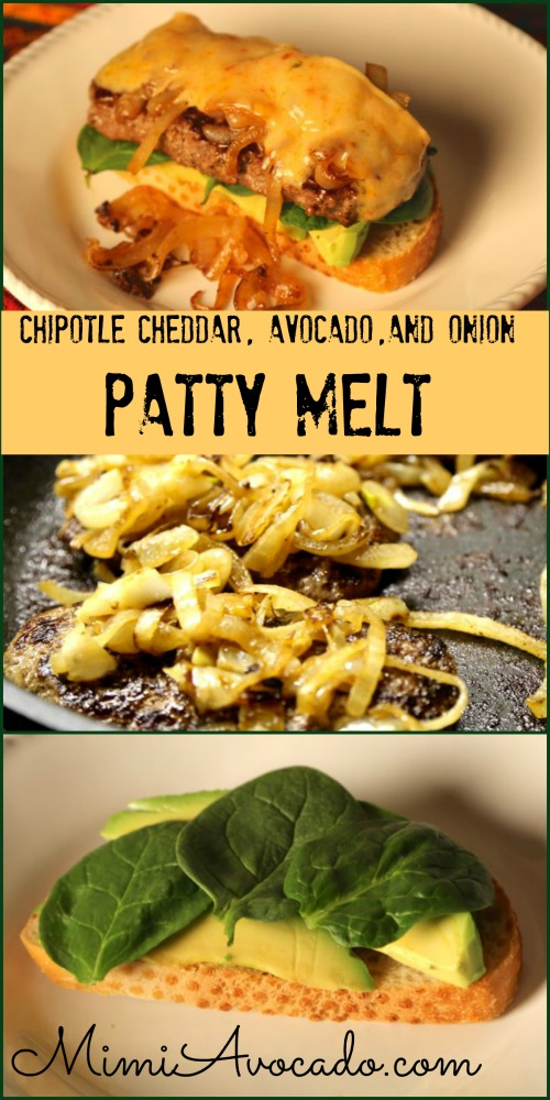 Chipotle Cheddar Avocado Patty Melt