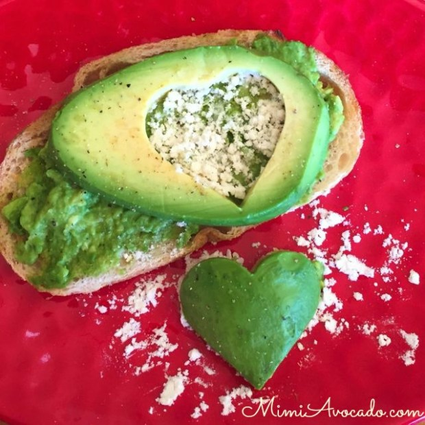 Valentine Avocado Toast