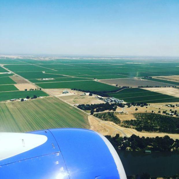 landing in Sacramento