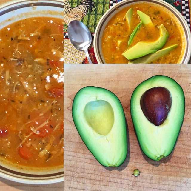 Chicken Tortilla Soup with Avocado
