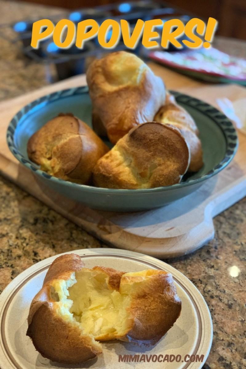 Popovers recipe pinterest image