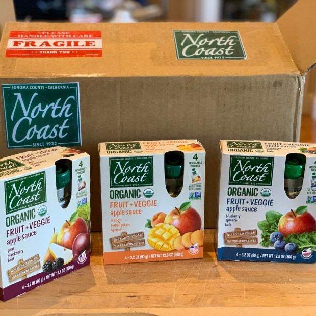 Applesauce pouches from North Coast Organics