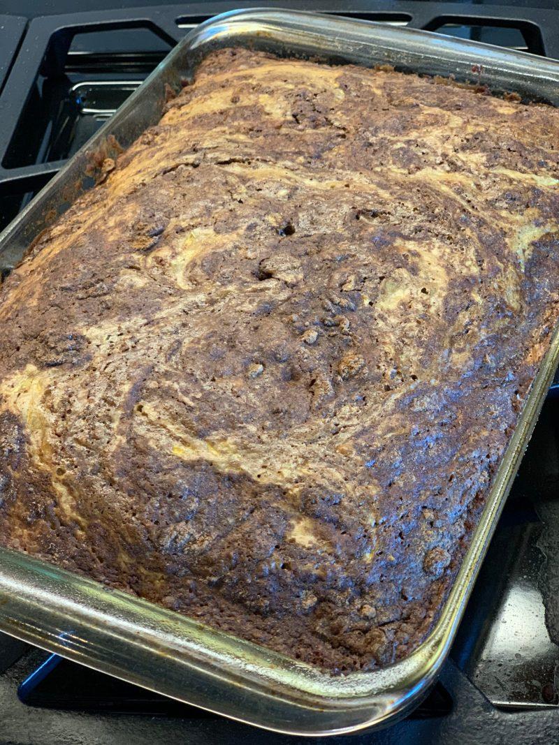 Cinnamon Swirl Coffee Cake with Summer Squash