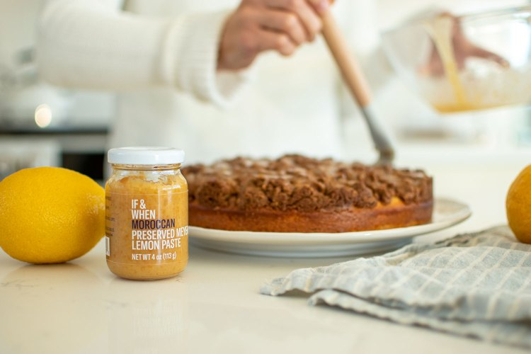 Easy Lemon Coffee Cake recipe for Christmas! This light and delicious Lemon Coffee Cake recipe uses If & When lemon paste for a true lemon flavor. This cake can easily be baked at high altitude and also gluten free using my simple adjustments.