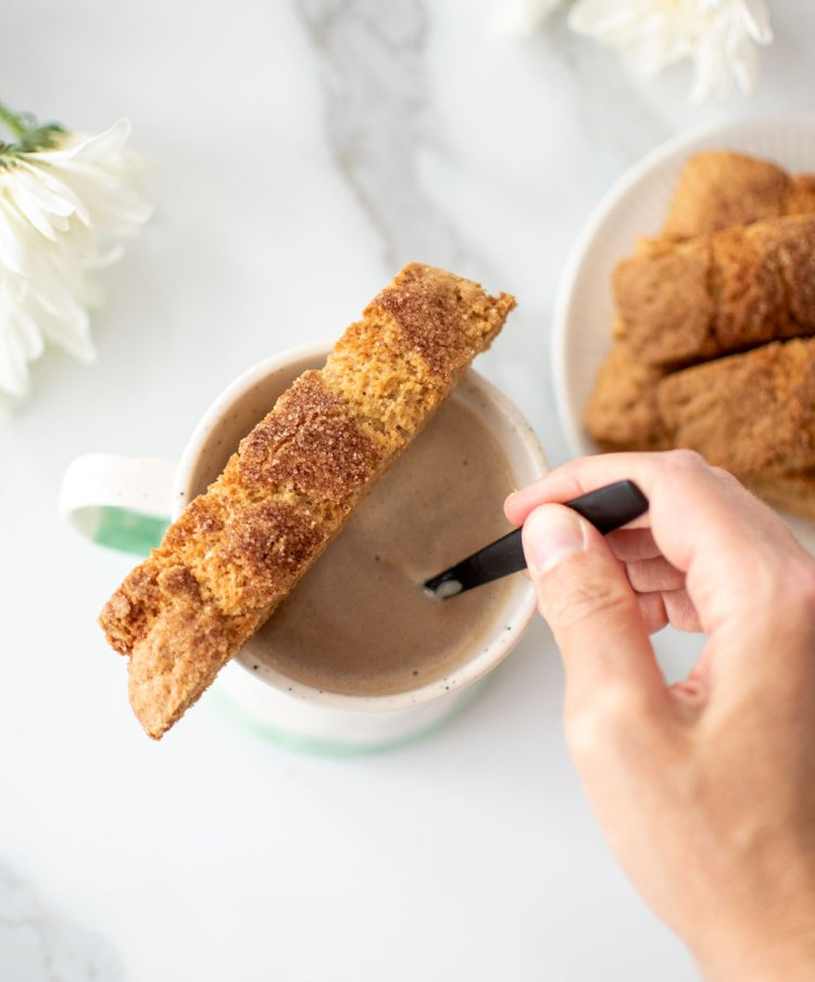 Snickerdoodle Biscotti recipe. The best Snickerdoodle Biscotti recipe. Easy biscotti recipe. Snickerdoodle biscotti cookies. High altitude snickerdoodles, crispy snickerdoodles, simple biscotti recipe.