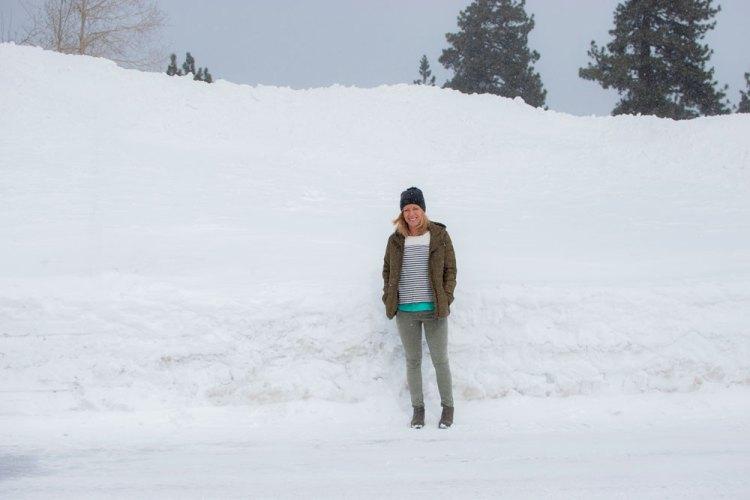 Snowy lot.