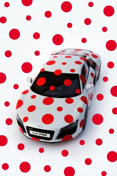 Yayoi Kusama for the Audi 100th Anniversary Exhibition, 2009
