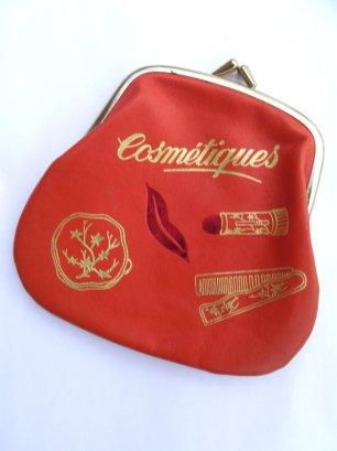 vintage cosmetic bag