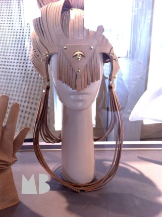 "the atarashii shimada headpiece displayed at ""Fetishism in Fashion"" at MoBA 13."