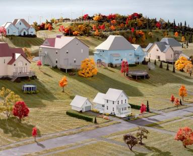 Landscape with Houses, (Dutchess County, NY) #1, 2009, digital chromogenic print, size variable