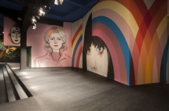 "3-Runway Mural by GABRIEL SPECTER, ""Colorful Women"" at the Prada show S/S 2014"