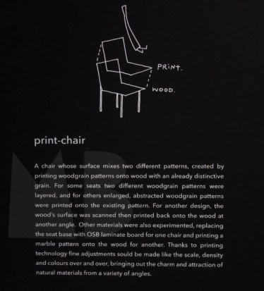 printed chair by nendo
