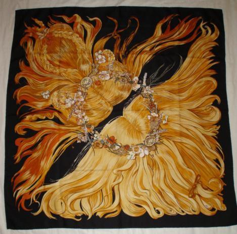 Hair on a Silk Headscarf