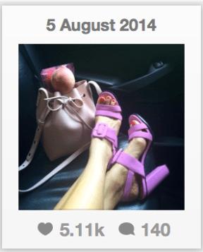screenshot of evachen212's instagram