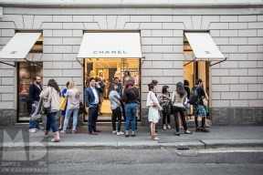 In Line for Chanel at the Via Monte Napoleone