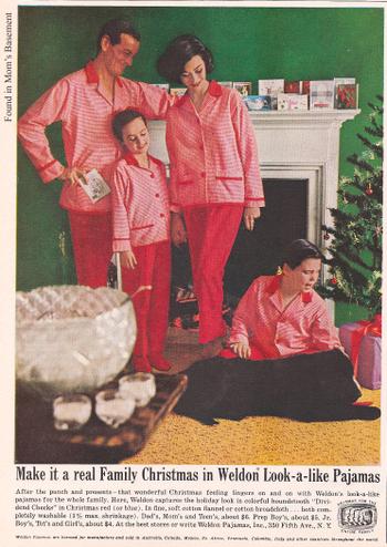 1960s advertisement for Weldon look-alike pyjama's. (found in mom's basement)