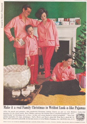 1960s advertisement for Weldon look-alike pyjama's. (found in mom's basement)