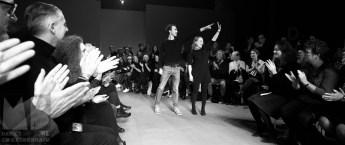 Futua designers Anne Bosman, Sanne Schepers thanking their partner in Futura Tom Renema