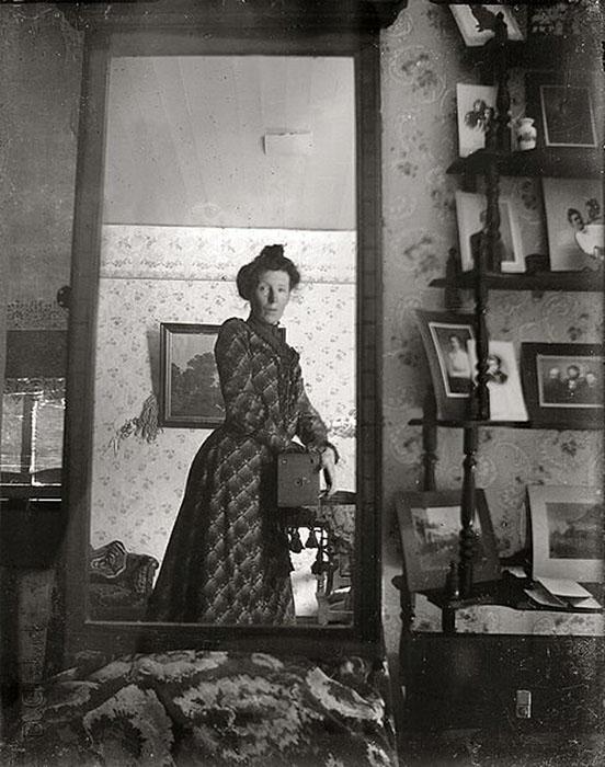 History: Self Portrait in the Mirror