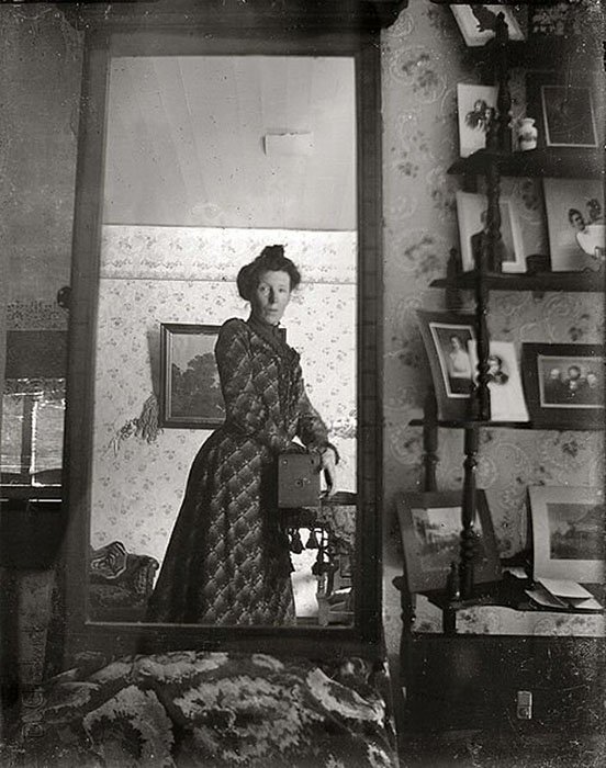 History: Self Portrait in the Mirror