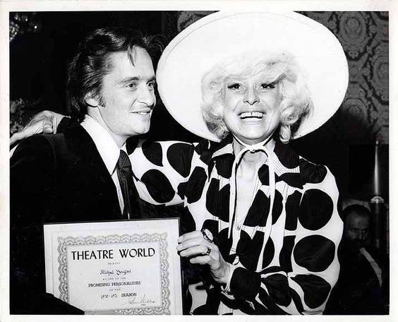 1971 Michael Douglas Carol Channing Theatre World Awards Candid Photo