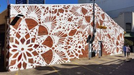 graffiti: NeSpoon brought her lace-inspired art to the streets of Perth