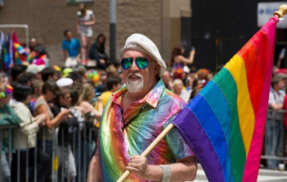The Rainbow Flag designed by Gilbert Baker