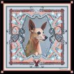 'Gummit' personal pet portrait scarf by Machteld Schouten.