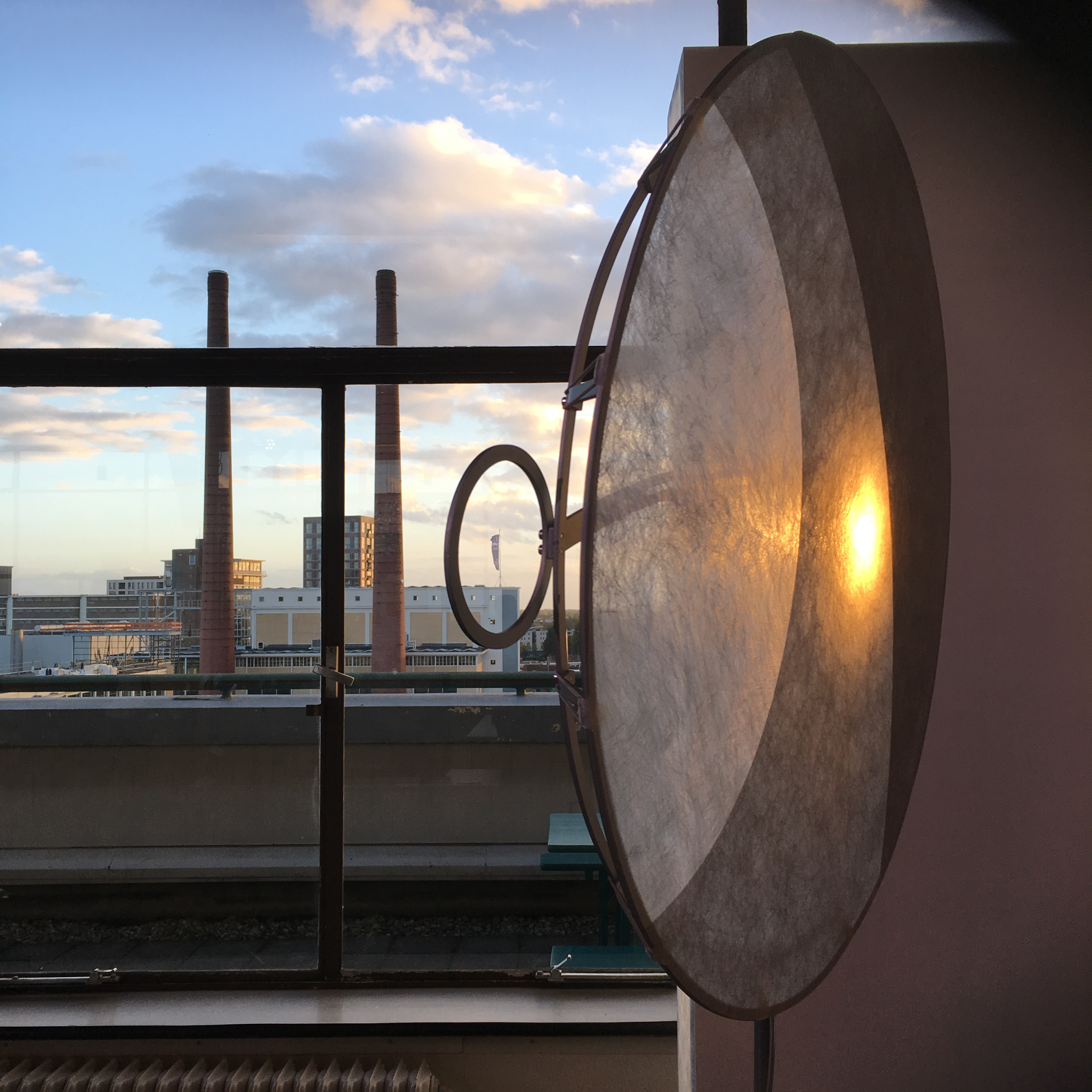 Lamps with shades made from Colback. 'in4nite Shades' by Klaas Kuiken