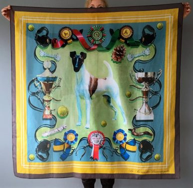 The Happy Customer (design printed on cotton/silk)