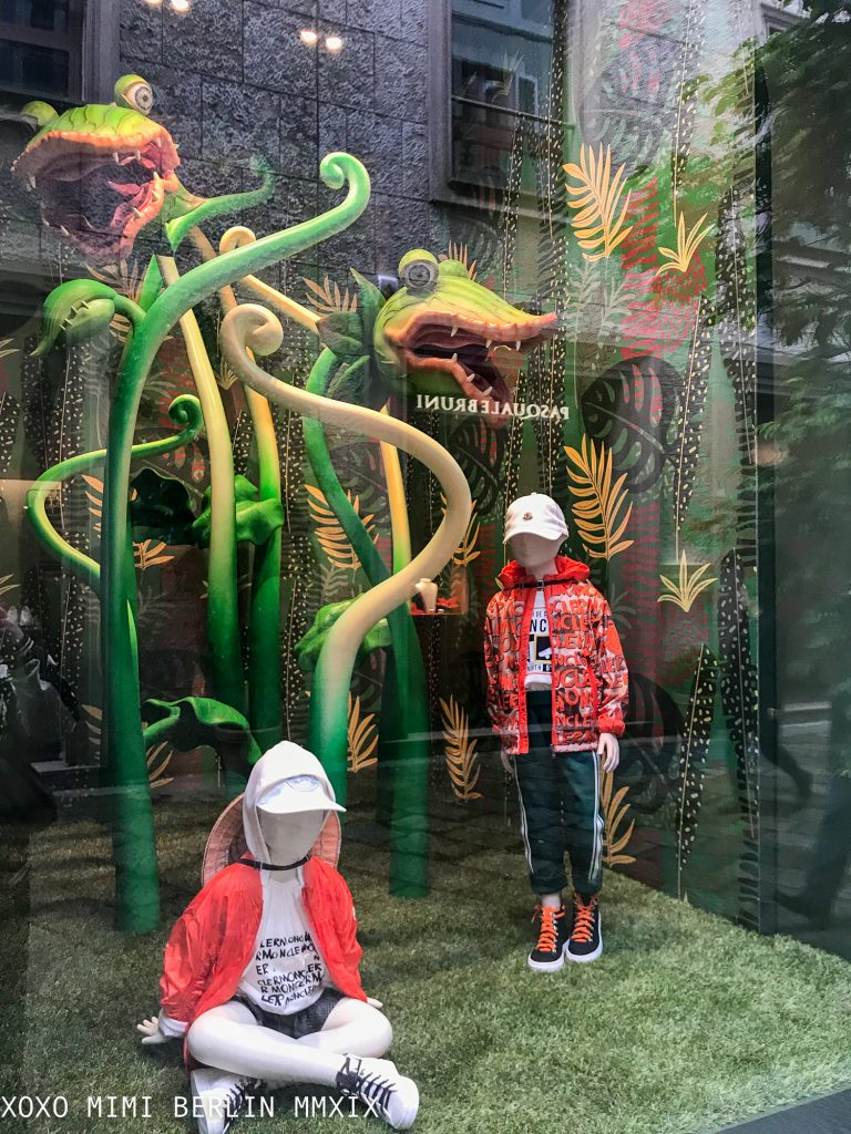 Little Shop of Horrors Jungle at the Dolce and Gabanna Family Store