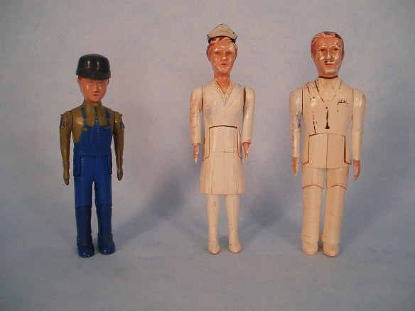 Hard plastic dolls from the Renwal company