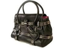 Pre owned Luella Black Leather Gisele Handbag. via bagboudoir.co.uk