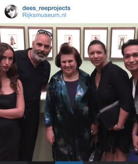 Suzy M &, Desiree Kleinen and friends, Dutch fashion proffessinals, at the Rijksmuseum in Amsterdam