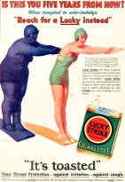 A Lucky Strike advert from the 1930s showing the supposed health benefits of smoking. Source: tobacco.stanford.edu, available here.