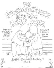 Granparent-Hugs Coloring Page
