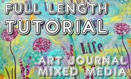 Fall in love art journal tutorial (Studio Time 15)