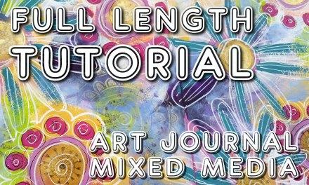 Free art journal tutorial (Studio Time 17)