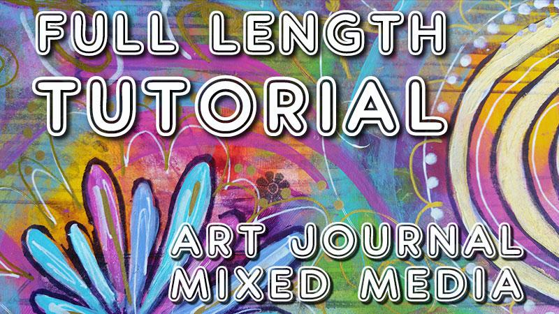 Free art journal tutorial using handmade stamps (Studio Time 18)