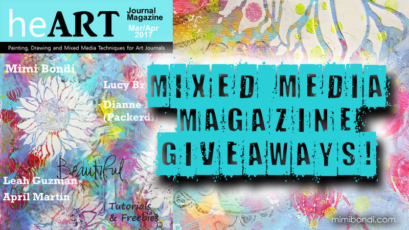 I am published in heART Journal Magazine + 2 giveaways!