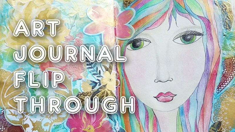 Mixed media art journal flip through video! (ST52)