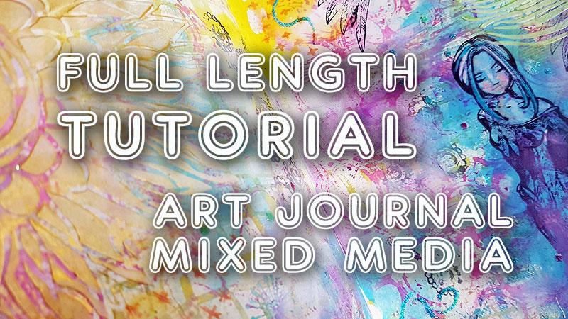 Art journalling with Distress Oxides (ST64)