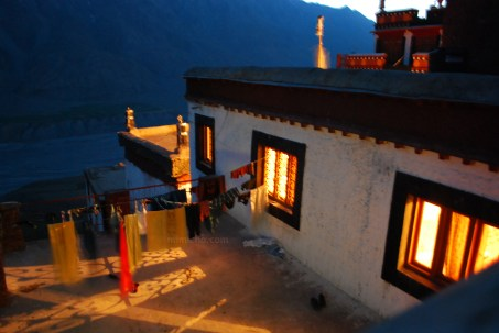 Kee monastery terrace at night - Spiti, Northern India