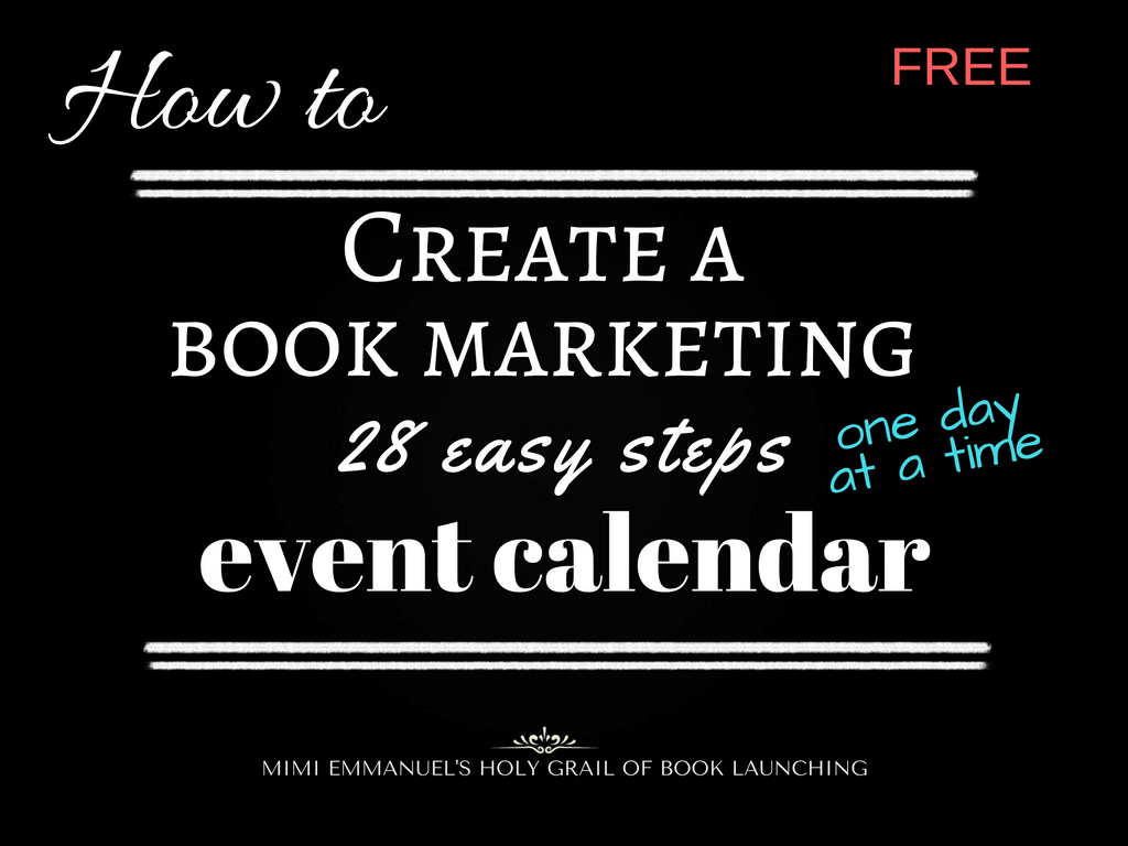 HOW TO CREATE A BOOK MARKETING EVENT CALENDAR