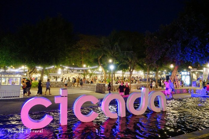 【華欣景點】Cicada Market 蟬鳴創意市集:營業時間週末限定,必逛泰國最美夜市