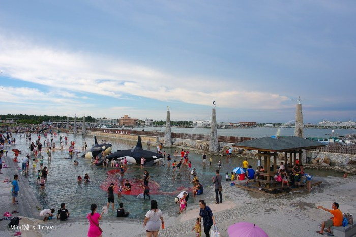 【嘉義景點】東石漁港&東石漁人碼頭:大沙坑戲水區,漁港與樂園的完美結合。